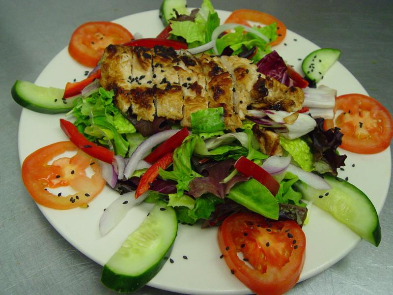 Large teryaki chicken salad